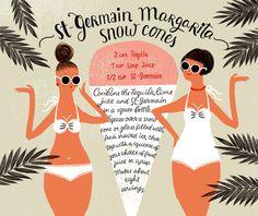 St Germain Margarita Snow Cones Recipe Card Dinara Mirtalipova OSBP Summer Cocktail Series: St Germain Margarita Snow Cones