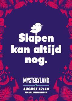Slapen Kan Altijd Nog. (Mysteryland) Boomerang Freecards  Amsterdam