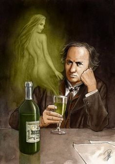 Listen to Intoxicate Yourself by Charles Baudelaire by Spoken Art on Deviant Art, Absinthe Drinker, Green Fairy Absinthe, Artemisia Absinthium, Spoke Art, Shall We Dance, Portraits, Movie Photo, Illustrations