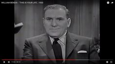 """WILLIAM BENDIX - """"THIS IS YOUR LIFE"""", 1950 (57) - YouTube"""