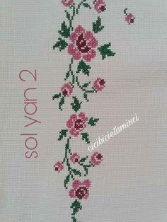 Cross Stitch Rose, Cross Stitch Flowers, Cross Stitch Patterns, Diy And Crafts, Elsa, Cross Stitch Borders, Hand Embroidery Stitches, Funny Cross Stitches, Bugle Beads