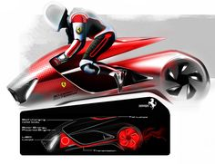 Arianna's body is made of vanadium composite which has the capacity to absorb energy and transmit it to energy core. Features: Self charging metal body, solar energy powered body, LED lamps, tail lamps, transmission. Ferrari Arianna Designer: Ankur Singh, Transportation designer at Design Storz Austria