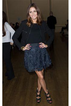 Olivia Palermo shine a night / skirt: Diane von fürstenberg / shoes: Charlotte Olympia