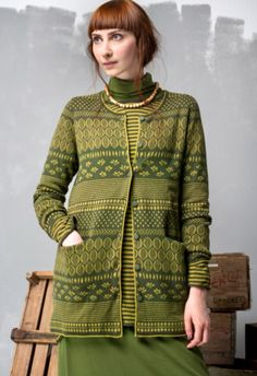 GUDRUN-SJODEN Inger Jacquard-Knitted-Jacket-RRP-£105 S11111M11L111