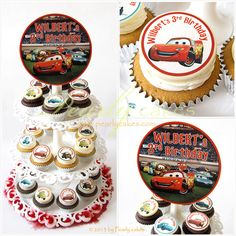 Cars Cupcakes on Tier by Pearlycakes.com