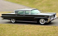 Black 1958 Lincoln Continental MK III 4-Door Hardtop Sedan, roll down back window, suicide doors & me driving it. Perfection.