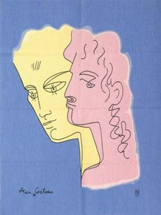 "primary-yellow: ""AFTER JEAN COCTEAU RENAUD ET ARMIDE (wool tapestry) """