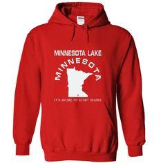 Minnesota Lake It's Where My Story Begins T-Shirts, Hoodies. SHOPPING NOW ==► https://www.sunfrog.com/LifeStyle/Minnesota-Lake-MN12-3515-Red-49105316-Hoodie.html?id=41382