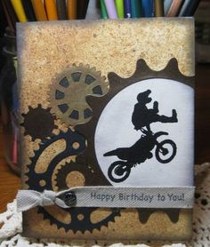 Moto Birthday by kb9upk - Cards and Paper Crafts at Splitcoaststampers
