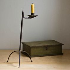 antique wrought iron candle holder ****