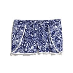 CHALLIS POMPOM SHORTS - UPSTREAM $24.00 @holcombe0507 lilly for target! I'm def getting these