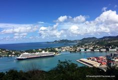 Holland America's ms Koningsdam cruise ship in the port of Castries, St. Lucia.