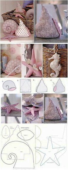 Shells and seahorse free sewing pattern