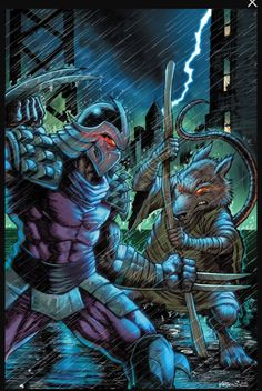TMNT Teenage Mutant Ninja Turtles Master Splinter and The Shredder