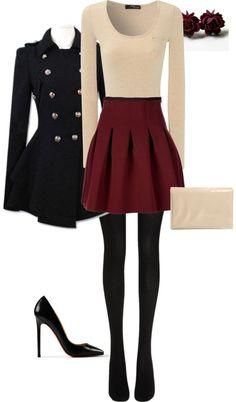 burgundy skirt white sweater   http://phonereview825.blogspot.com