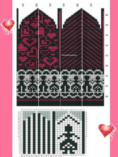 Knitted Mittens Pattern, Crochet Mittens, Crochet Gloves, Knitting Charts, Knitting Socks, Knitting Machine, Wrist Warmers, Hand Warmers, Bead Crochet Rope