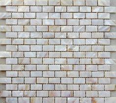 Fabulous G nstige perlmutt perlwei fliese mm backstein muster mosaik fliesen f r k che oder Bad backsplash