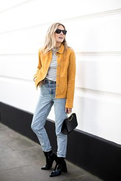 Fashion Me Now | Mustard Suede & Stripes_-9