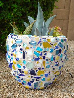 2nd grade outdoor mosaic pot