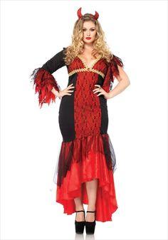2 Piece Diva Devil Costume Set Size 3X-4X Black & Red Plus Size Halloween Costumes 2014 http://bigcurvylove.com/2014/09/06/plus-size-halloween-costumes-2014/  #plusssize #halloween