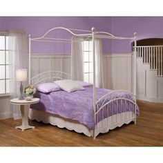 headboard, footboard and canopy sold with option of no frame