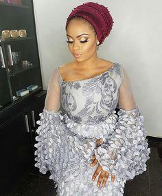 Fab wedding guest 😍😍😍😍😍😍 Fabric by Makeup by African Lace Styles, Ankara Styles, Yoruba Wedding, Style Africain, Nigerian Weddings, Kitenge, Aso Ebi, Dashiki, African Design