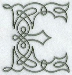 Celtic Knotwork Letter E - 5 Inch