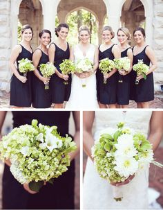 black white and green wedding | Green and Black Weddings, real weddings ideas and trends
