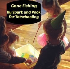 Fishing game for preschoolers to practice math, literacy and motor skills!