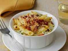 # MAC & CHEESE WITH ROASTED JALAPENOS AND BACON #