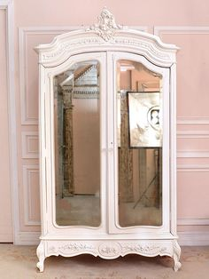 Love this piece with vintage mirror!