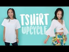 DIY Knotted Crop Top with Bell Sleeves | Thrifted Transformations Ep. 64 - YouTube