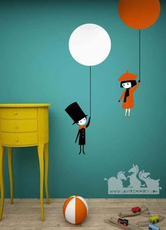 So Cute <3 I'm paiting these wall stickers on my wall right now! More