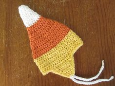 Candy Corn Hat free crochet pattern - 10 Free Candy Corn Crochet Patterns - The lavender Chair
