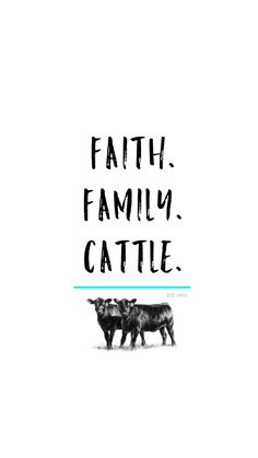 iPhone 6 Wallpaper. Faith, Family, Cattle. Angus Cow.