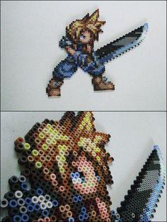 Final Fantasy 7 - Cloud - bead sprite magnet