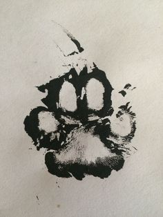 Real Paw print using paint of my dogs Mitzi's foot ! sweet idea for a tattoo over my heart