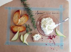 goat cheese and accompaniments