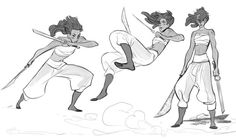 Some more quick fighting poses!