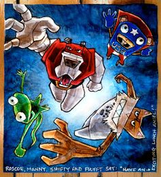 The superhero pet concept is pretty much a surefire hit with Ansel, and Dan Santat's graphic novel. Dan Santat, Birds Eye View, Napkins, Novels, Concept, Superhero, Pets, Collection, Towels
