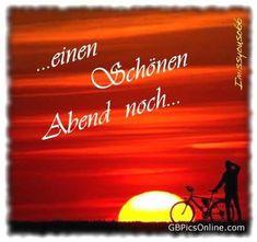einen schönen Abend und eine gute Nacht und schöne Träume…