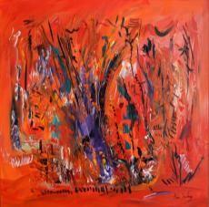 L'arbre de l'éternité, tableau contemporain format 60 x 60 cm d'Ame Sauvage