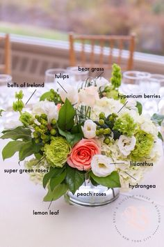 Recipe for a low with a fresh, natural look: Blush tulips, peach… Floral Wedding, Wedding Bouquets, Wedding Flowers, Rose Gold Christmas Decorations, Tall Floral Arrangements, Low Centerpieces, Peach Flowers, Peach Rose, Dendrobium Orchids