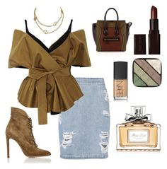 """""""Mood"""" by khawlaalshehhi on Polyvore featuring IRO, Acler, CÉLINE, Gianvito Rossi, Laura Mercier, Burberry, NARS Cosmetics and Christian Dior"""