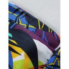 5a8bc2df00b Short Sleeve Leaf Printed Hawaiian Shirt - BLUE XL
