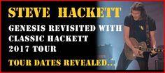 Genesis Revisited &Hackett Classics 2017 tour, le date italiane Marzo 2017 Mercoledì29 Marzo - Teatro