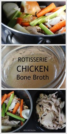 I've made bone broth a few different ways, and their really isn't a right way, but using a rotisserie chicken is by far the most simple way.