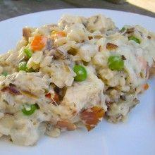 Wild Rice and Chicken Casserole at laurenslatest.com