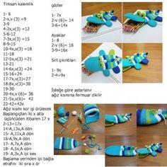 Weaving Crocodile Knitting Model with Amigurumi Technique Vintage Crochet Patterns, Crochet Doll Pattern, Crochet Patterns Amigurumi, Crochet Toys, Crochet Pencil Case, Crochet Wallet, Amigurumi For Beginners, Crochet Gratis, Crochet Mandala