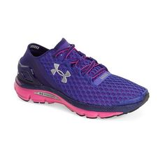 Under Armour 'SpeedForm Gemini' Running Shoe ($130) ❤ liked on Polyvore featuring shoes, athletic shoes, laced up shoes, lightweight shoes, laced shoes, lightweight running shoes and under armour shoes